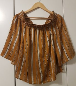 Amisu Carmen blouse wit-oranje