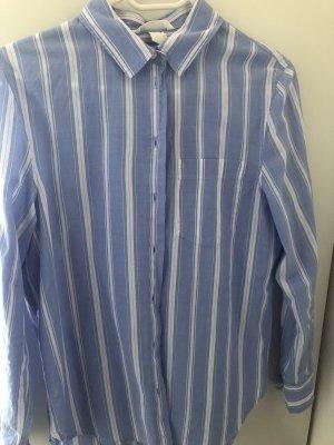 H&M Bluzka z długim rękawem biały-błękitny