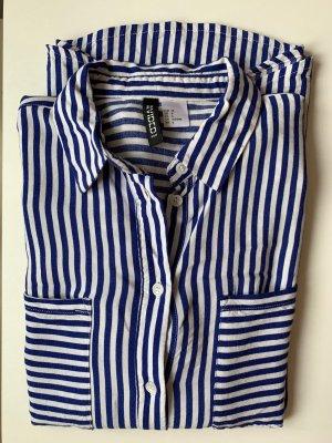 Gestreifte Bluse blau/weiß H&M