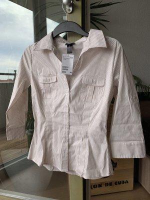 H&M Koszulowa bluzka beżowy-biały