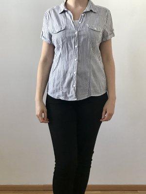 C&A Yessica Bluzka z krótkim rękawem biały-błękitny Bawełna