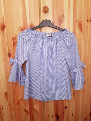Camisa tipo Carmen azul celeste