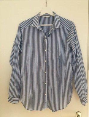 Gestreifte Bluse in Hellblau und Weiß, Größe S, H&M