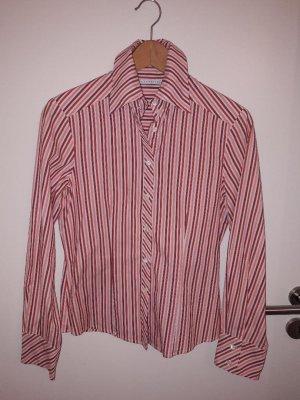 gestreifte Bluse in weiß, rosa und rot, Größe 36 von italienischem Hersteller