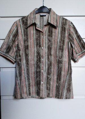 Gestreifte Bluse mit floralem Muster