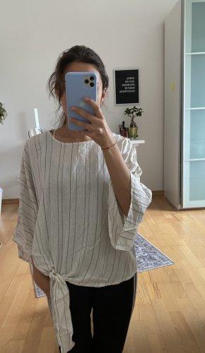 Koton Short Sleeved Blouse dark green-natural white