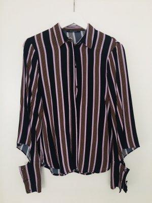 Bruuns bazaar Top koszulowy ciemny fiolet-ciemnoniebieski
