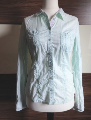 edc by Esprit Blusa-camisa blanco-turquesa