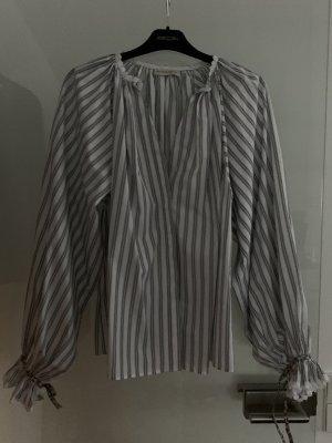 Etro Oversized Blouse white-black cotton