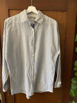 Tommy Hilfiger Denim Camicia blusa bianco-azzurro Cotone