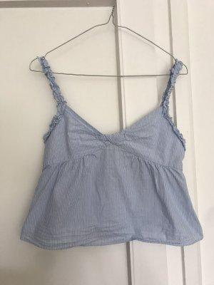 Gestreifte Bluse von Zara mit Rüschenträger