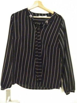 women essentials by Tchibo Blouse avec noeuds blanc-noir