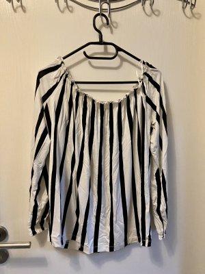 BODY FLIRT Bluzka typu carmen czarny-biały