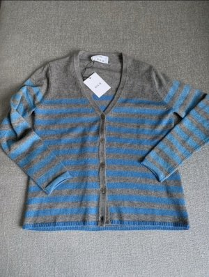 Allude Cardigan grey-neon blue