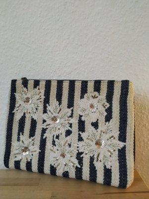 gestreifte Clutch mit Blütenapplikation *NEU* promod