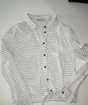 gestreifte crop-Bluse