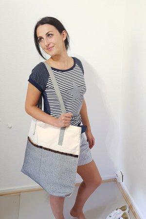 Stripe Shirt dark blue-white cotton