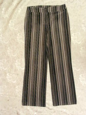 Gestreifte Freizeit Hose Jeans Stretch Kord Größe 44