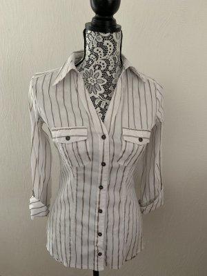 Gestreifte Halbarm-Bluse von Promod Gr. 36