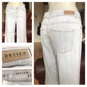 Gestreifte helle Review Jeans locker S/M