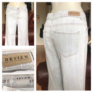 Gestreifte helle Review Jeans locker S/M