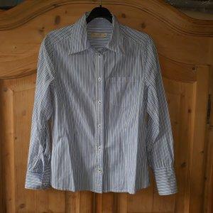 Bon'a Parte Camicia blusa bianco-blu acciaio Cotone