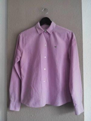 gestreifte Hemdbluse in lila-rosa aus 100% Baumwolle, Größe 36