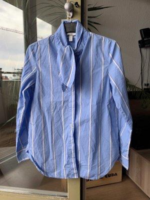 H&M Koszulowa bluzka chabrowy-biały