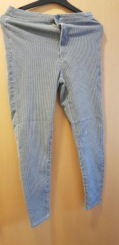 Gestreifte High Waist Jeans