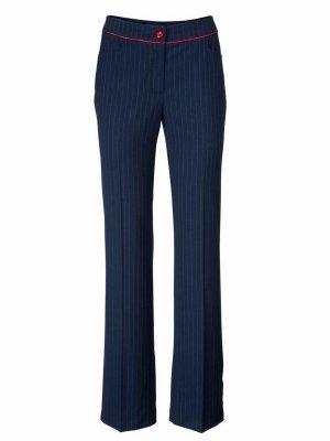 Ashley Brooke Lage taille broek donkerblauw-wit Katoen