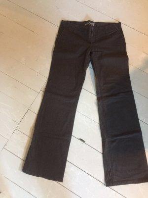 Mogul pantalón de cintura baja marrón oscuro-marrón grisáceo