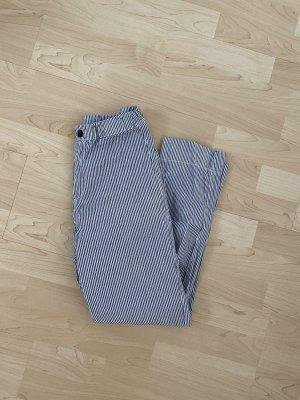 Brandy & Melville Pantalone a 3/4 bianco-blu scuro