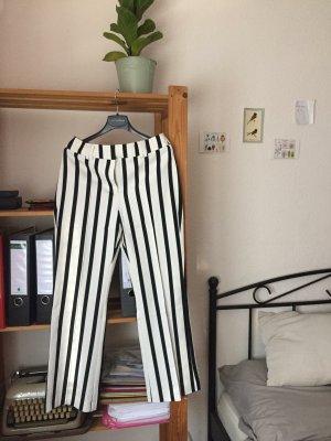 Mango Jersey Pants white-black
