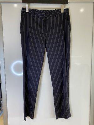 Patrizia Pepe Jersey Pants dark blue-white viscose