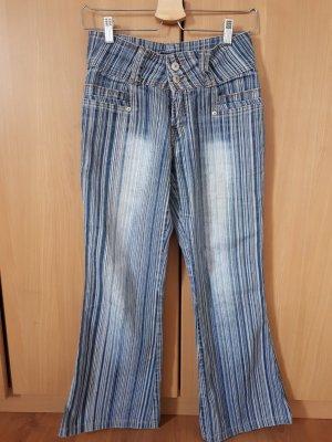 gestreifte Jeans/Flare Cut/Vintage