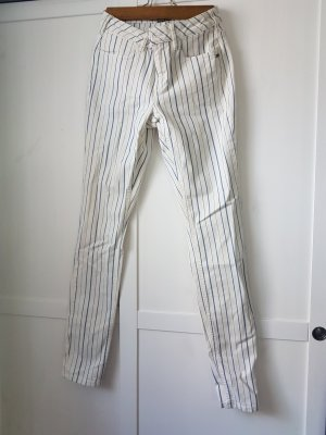 gestreifte Jeans Mid Rise