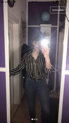 gestreifte lange Bluse