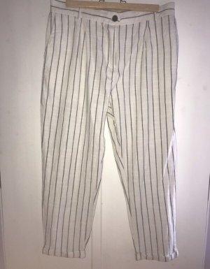 B.young Pantalon en lin multicolore coton