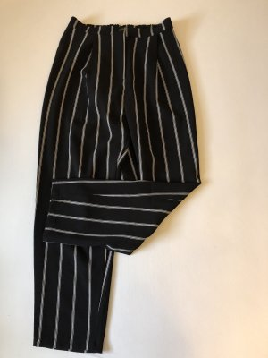 H&M Pantalon chinos noir-blanc
