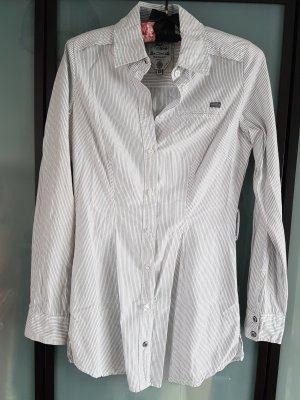 gestreifte Long Bluse XS