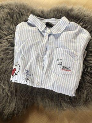 Page one Colletto camicia bianco-blu fiordaliso
