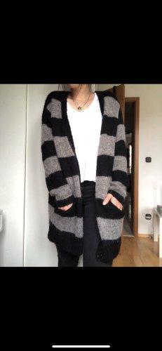Monki Veste oversize noir-gris