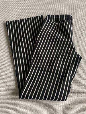 H&M Spijker flares wit-zwart