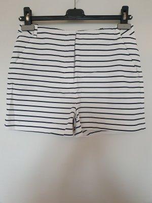 Zara Basic Shorts white-dark blue