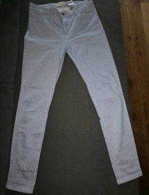 H&M Hoge taille jeans wit-azuur