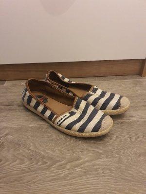 Zapatos formales sin cordones blanco-azul