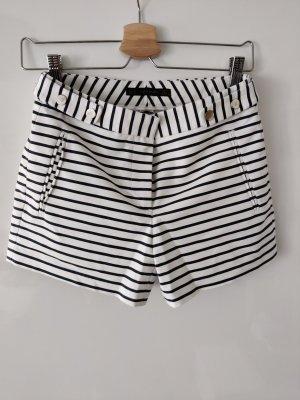 Zara Basic Short taille haute blanc-gris foncé
