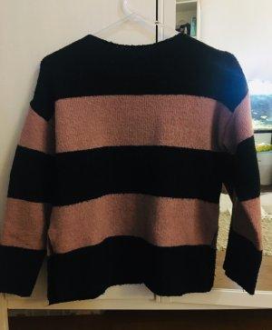 Gestreiften Pullover von Zara girl, Rosa und  Schwarz