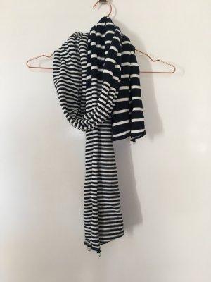 Knitted Scarf white-dark blue