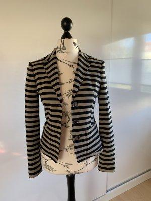 Hugo Boss Jersey blazer zwart-grijs-bruin